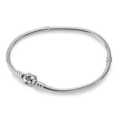 New Authentic Pandora Clasp Bracelet 590702HV-21 Sterling Silver 8.25 Inches