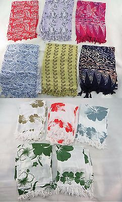 *US SELLER*Lot of 10  Aloha flower sarong Swimwear batik womens cover up sun...
