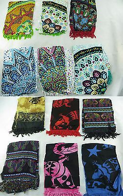 *US SELLER*Lot of 10 mandala elephant gecko sarongs wholesale tribal boho hippie