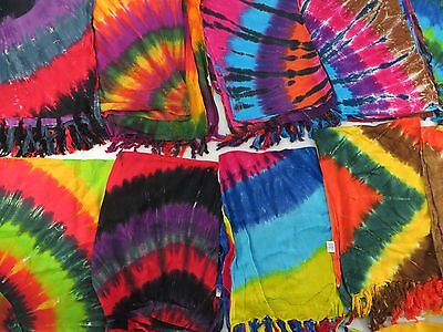 *US SELLER*Lot of 10 beachwear heppy punk clothing tie dye sarong wholesale...