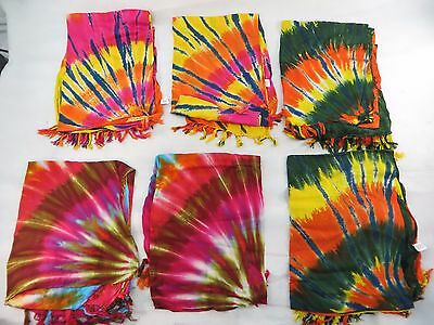 *US SELLER*Lot of 10 tie dye swirl sarong boho hippie punk rock fashion clothing