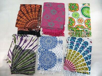 *US SELLER*Lot of 10 endless mandala circle sarong butterfly peacock feather...