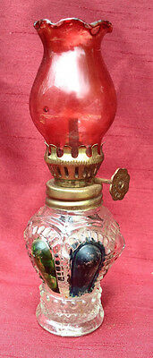 VINTAGE Miniature Oil Lamp Light, made in HONG KONG