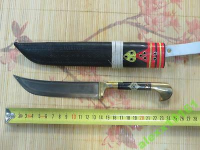 Uighur knife - pchak. Decorating with brass handles.