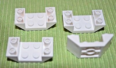 4 1x6 Red Double Inverted Slope Bricks ~ Lego ~ NEW ~