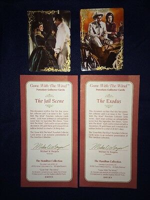 Hamilton Collection Gone with the Wind Porcelain Cards The Jail Scene/Exodus