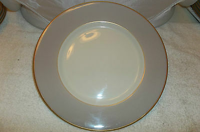 """1-FRANCISCAN~PALOMAR~10.5"""" INCH GRAY DINNER PLATE (S) GOLD TRIM"""