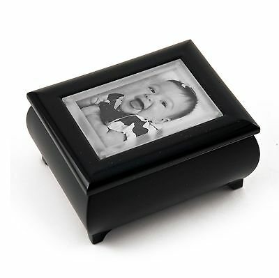 """3"""" x 2"""" Wallet sized Black Photo Frame Music Box with """"Pop up"""" Lens - MBA $65"""