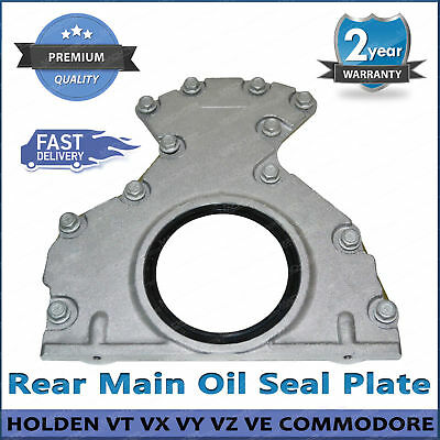 Commodore V8 Rear Main Oil Seal Plate Housing for Holden HSV LS1 LS2 w/ Gasket