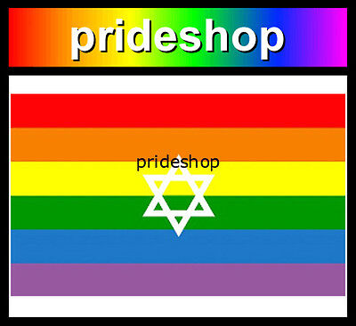Star Of David Rainbow Flag 3' x 5' 100% Strong Polyester Lesbian Gay Pride #469