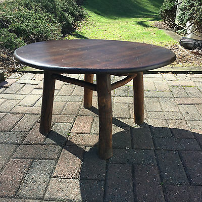 """Vintage  Old Hickory/Oak Small 28"""" coffee Side/Lamp/Childs Table Martinsville IN"""