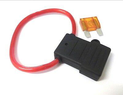 Maxi blade fuse holder. Splash proof. In Line. *Free 40 Amp fuse! *Top Quality!