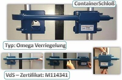 Omega Verriegelung Lagercontainer Containerverrigelung container lock