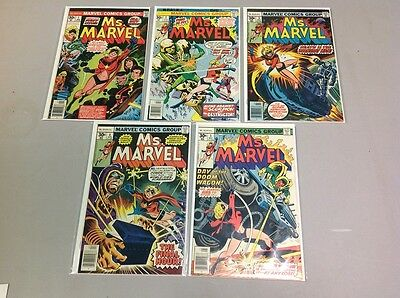 Ms. Marvel #1-5 1977 Marvel 1St Appearance Fine Condition