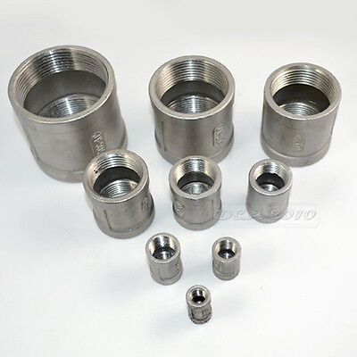 "1/8""--2""Female x Female Couple Stainless Steel 304 Threaded Pipe Fitting NPT Hot"