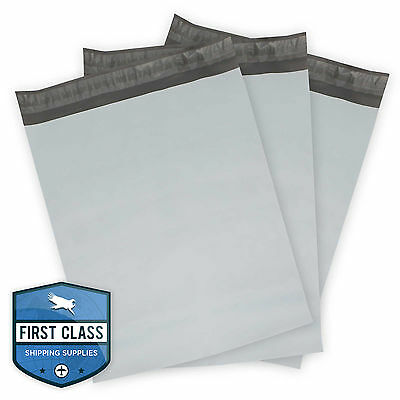 """100 Poly Envelope Mailers Shipping Bags - 12"""" x 15.5"""" - Gray"""