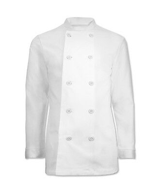TRADITIONAL WHITE CHEFS JACKET, RESTAURANT UNIFORM CLOTHING, APRON, NEW, INS10w