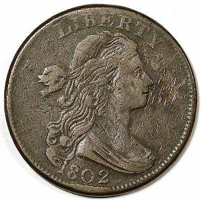 1802 S-226 R-3 Draped Bust Large Cent Coin 1c