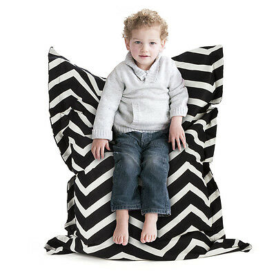 NEW Crashmat Black & White Zigzag Kids' Bean Bag