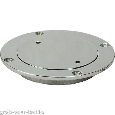 Inspection Port / Deck Plate 112mm OD 316 Grade SS with Key Boat Caravan Port