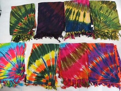 *US SELLER*Lot of 5 swirl tie dye sarong resort and cruise wear wholesale...