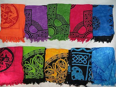 *US SELLER*Lot of 5 Celtic Pagan sarongs Hand-Crafted Altar Cloths
