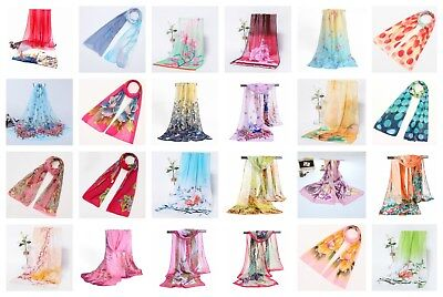 *US SELLER* wholesale lot of 10 chiffon scarf silky scarves for women