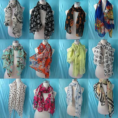 *US SELLER* 10pcs chiffon scarf Wholesale Scarves and Accessories