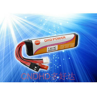 F14164 CNDHD 7.4V 8C 2000MAH RC Transmitter TX Lipo Battery Akku Power Special