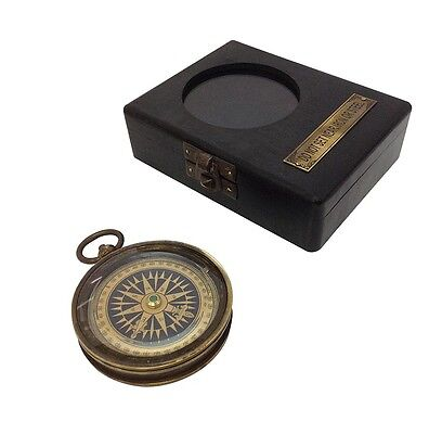 Compass Nautical Maritime Replica Pocket navigational instrument Gift Box