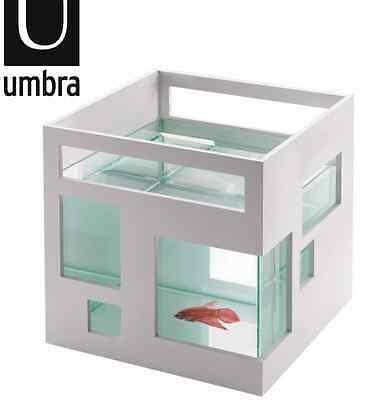 [Umbra] Acquario Design Umbra Fishhotel Fish Hotel Tank White Fishbowl 460410