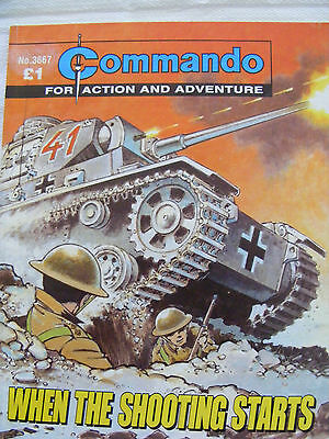 """Commando Comic War Stories In Pictures #  3667 """"when The Shooting Starts"""""""