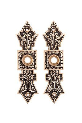 butterfly back plates for antique or new bronze or glass doorknobs repro's