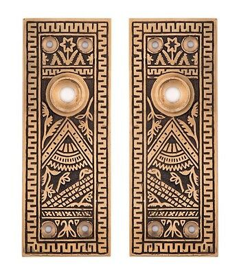 Oriental Decorative Door Back Plates For Doorknobs Bronze • CAD $94.07