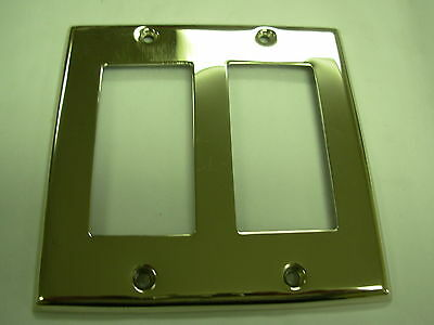 Nickel Double GFI switch Plate