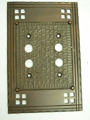 Double Push Button Mission Switch Plate