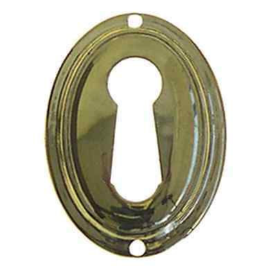 oval wrought brass furniture key hole escutcheon reproduction  BM1220