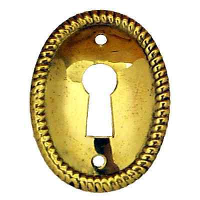 oval rope wrought brass furniture key hole escutcheon reproduction  BM1211