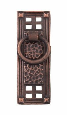 Hammered vertical ring pull 86042