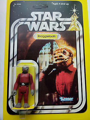 VINTAGE 1979 RED SNAGGLETOOTH  BY KENNER TOYS CINCINATTI ON STAR WARS 21 BACK