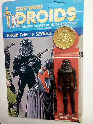 DROIDS  1977 STAR WARS COMIC CUSTOM SHADOW STORMTROOPER WITH GOLD COIN