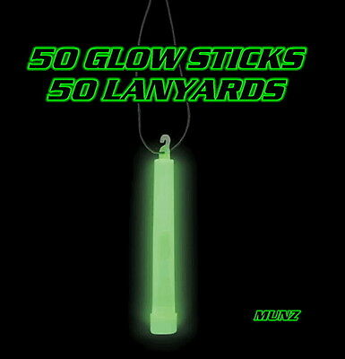 """50 Pieces 6"""" Green Glow Stick By Dream Glow Neon Rave Party Favors Safety Light"""