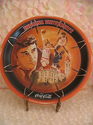 Vintage Coca Cola Metal Serving Tray, Indiana University Hoosiers, Bobby Knight