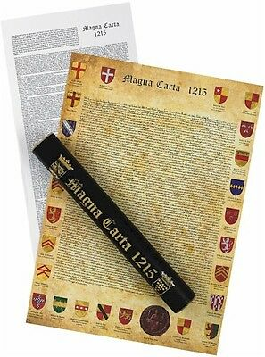 Magna Carta Replica and Translation in Ceremonial Tube