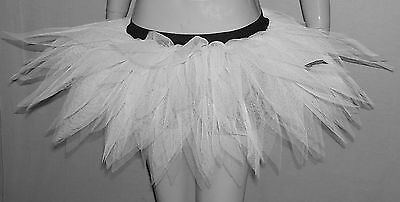Adult UV Neon White Tutu Skirt 7 Layers Pointed Clubwear Dance Christmas Party