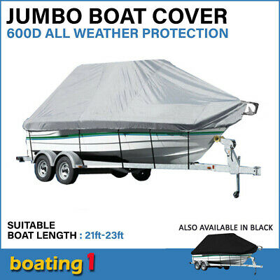21ft-23ft / 6.4m-7.0m Trailerable Jumbo Boat Cover