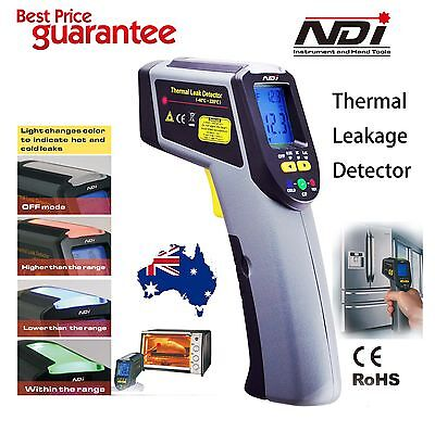 Digital Infrared IR Thermometer Temperature Laser Gun + Leak Detection KC-186