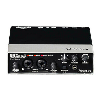 Steinberg UR22 MKII 2in/2out USB/Ipad Audio Interface w/ Cubase