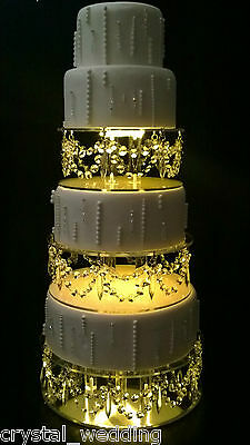 Crystal  wedding Cake Stands  Drape design glass crystals