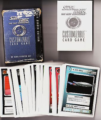 STAR TREK : The next generation. 1994. Card game. White border edition.